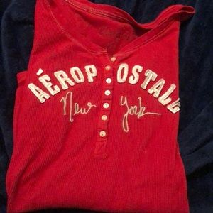 aeropostal red thermal shirt
